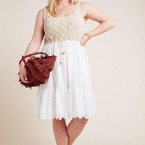 New Anthropologie Beckett Crochet Eyelet Dress